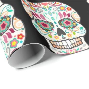 creativetaylor Feliz Muertos - Happy Sugar Skulls Wrapping Paper