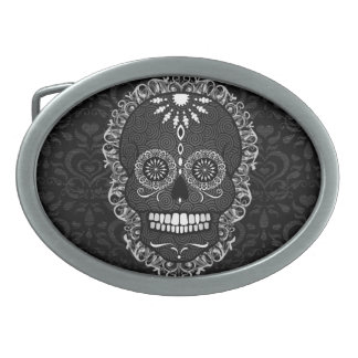 Feliz Muertos - hebilla del cinturón festiva del Hebillas Cinturon Ovales