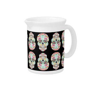 Feliz Muertos - jarra festiva de los cráneos del a