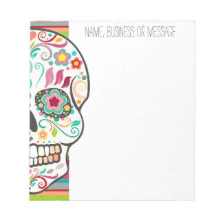 Feliz Muertos - libreta de encargo del cráneo del  Bloc De Notas