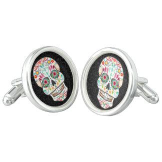 Feliz Muertos - mancuernas festivas del cráneo del Gemelos