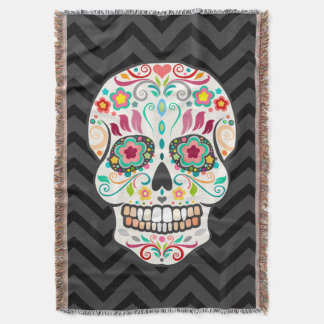 Feliz Muertos - manta festiva del tiro del cráneo