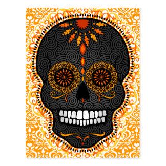 Feliz Muertos - postal feliz del cráneo del azúcar