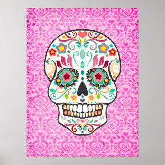 Feliz Muertos - poster festivo del arte del cráneo