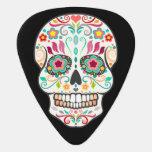 Feliz Muertos - púa de guitarra festiva del cráneo