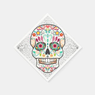 Feliz Muertos - servilletas de papel del cráneo fe