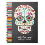 Feliz Muertos - Sugar Skull Custom Notebook at Zazzle