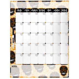 Feliz Muertos - tablero del calendario de los Pizarra Blanca