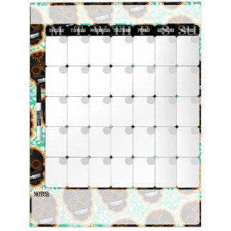 Feliz Muertos - tablero del calendario de los Pizarras Blancas