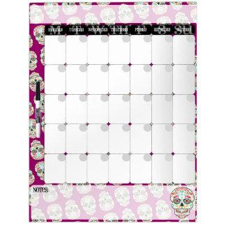 Feliz Muertos - tablero del calendario de los Tablero Blanco