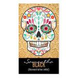 Feliz Muertos - tarjeta de encargo de la vertical Tarjetas De Visita