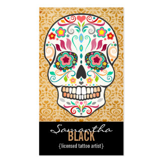 Feliz Muertos - tarjeta de encargo de la vertical  Plantillas De Tarjetas De Visita