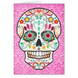 Feliz Muertos - tarjeta de encargo del cráneo feli