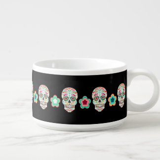Feliz Muertos - tazón festivo de los cráneos del a