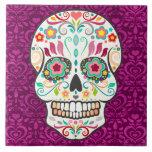 Feliz Muertos - teja festiva del cráneo del azúcar
