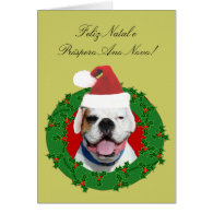 Feliz Natal e Próspero Ano Novo boxer card