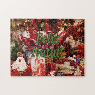 ¡Feliz natal! Felices Navidad en gf portugués Puzzle