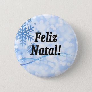 Feliz Natal! Merry Christmas in Portuguese bf Button