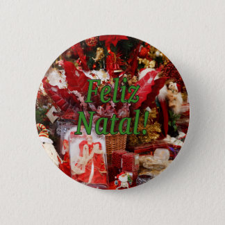 Feliz Natal! Merry Christmas in Portuguese gf Button