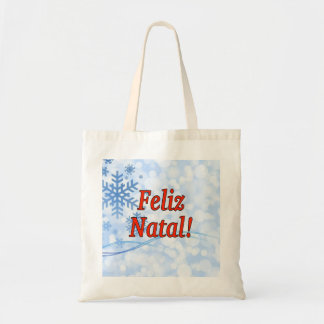 Feliz Natal! Merry Christmas in Portuguese rf Budget Tote Bag