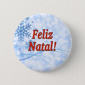 Feliz Natal! Merry Christmas in Portuguese rf Pinback Button