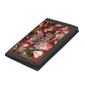 Feliz Natal! Merry Christmas in Portuguese wf Trifold Wallet