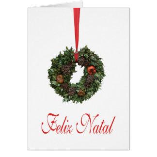 Feliz natal, tarjeta de Navidad portuguesa