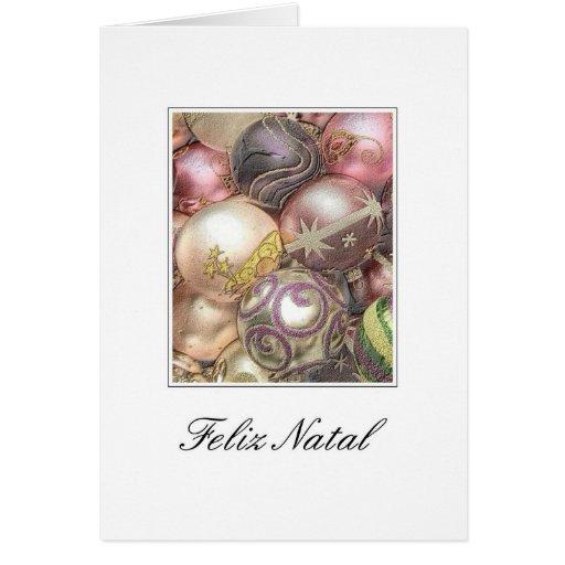Feliz natal - tarjeta de Navidad portuguesa