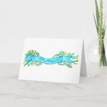 Feliz Natal, watercolor Christmas banner Holiday Card