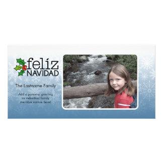 Feliz Navidad - 1 foto Tarjeta Fotográfica Personalizada