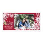 Feliz Navidad - 1 foto Tarjetas Fotográficas Personalizadas