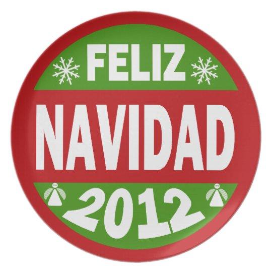 Feliz Navidad 2012 Plate