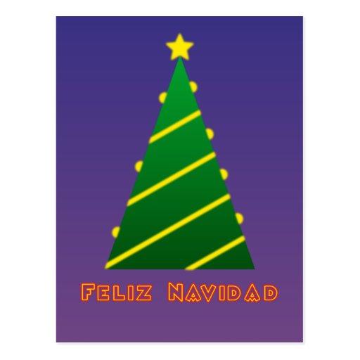 Feliz Navidad árbol de Navidad Tarjeta Postal