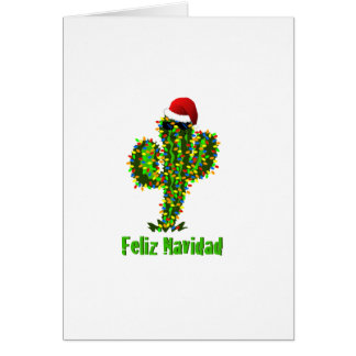 Feliz Navidad - Arizona Christmas Saguaro Lights Card