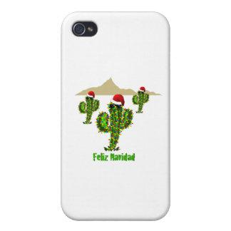 Feliz Navidad - Arizona Christmas Saguaro Lights iPhone 4 Cases