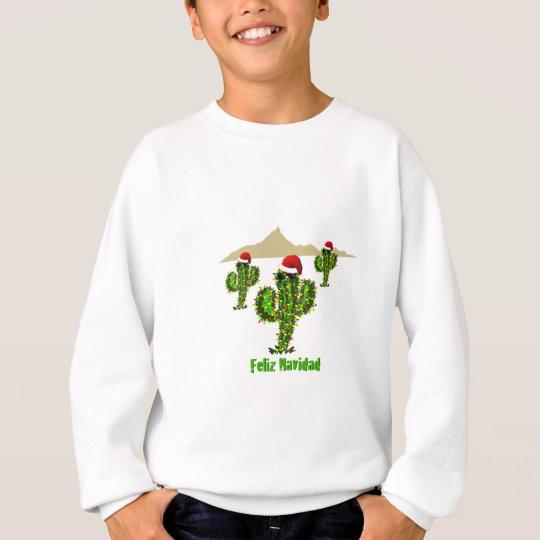 Feliz Navidad - Arizona Christmas Saguaro Lights Sweatshirt