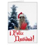 Feliz Navidad - bandido del mapache del navidad Tarjeta De Felicitación