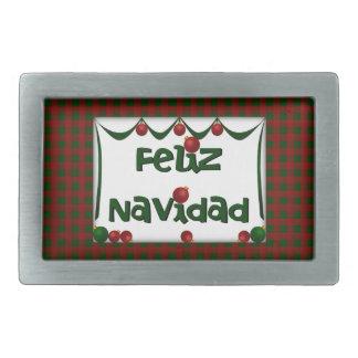 Feliz Navidad Belt Buckle - Merry Christmas