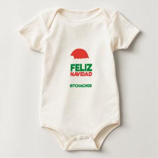 Feliz Navidad Bitchachos Baby Bodysuit