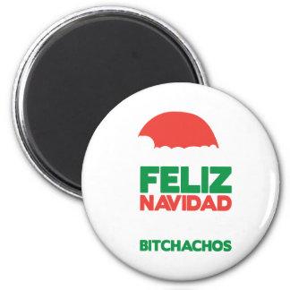 Feliz Navidad Bitchachos Magnet