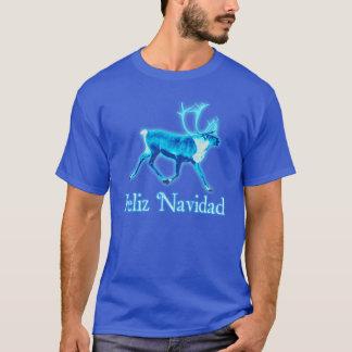 Feliz Navidad - Blue Caribou (Reindeer) T-Shirt