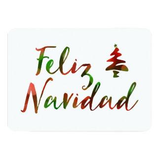 Feliz Navidad (bokeh tree lights) Card