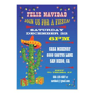 Feliz Navidad Cactus with Sombrero Card