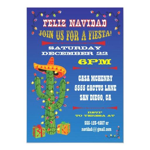 Feliz navidad cactus with sombrero card zazzle for Cactus de navidad