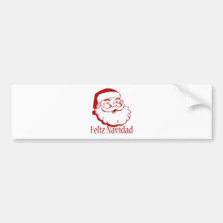 Feliz Navidad Etiqueta De Parachoque