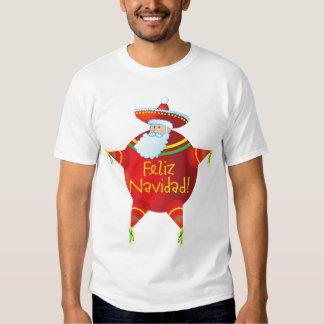 Feliz Navidad - camiseta española, español Santa Remeras