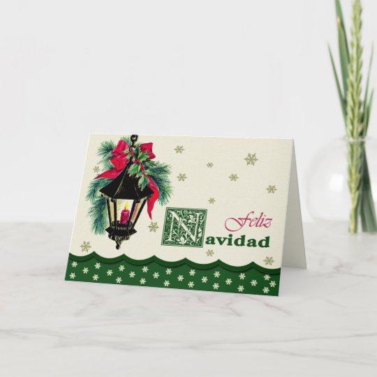 Feliz Navidad Christmas Cards In Spanish Zazzle Com