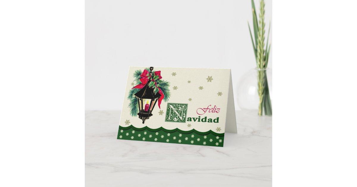Feliz Navidad. Christmas Cards in Spanish   Zazzle.com