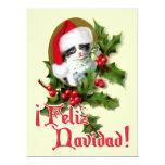 Feliz Navidad - Christmas Kitten 6.5x8.75 Paper Invitation Card