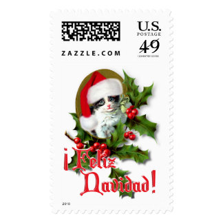 Feliz Navidad - Christmas Kitten Stamp